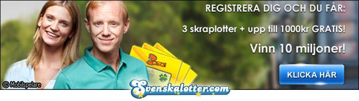 välkomstbonus hos Svenska Lotter