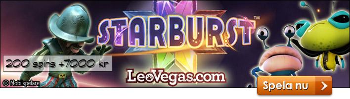 Leo Vegas - startbonus på 200 spins & 7000 kr